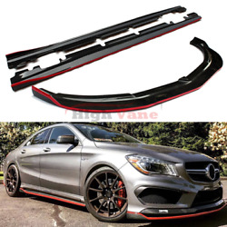 Carbon Fiber Front Lip & Side Skirts For Mercedes CLA Class W117 CLA45 2013-2016
