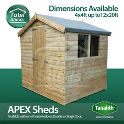 Total Sheds Garden Apex Shed Pressure Treated Tanalised Wooden Tandg Timber