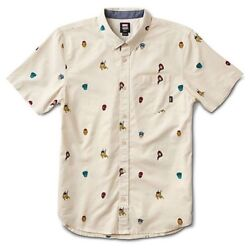 """X Marvel Houser Super Hero Button Up Short Sleeve Boys Sz S New """"sold Out"""""""