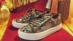 Rock & Candy Women's  Silky-J black and Metallic Tennis Shoes Size 7