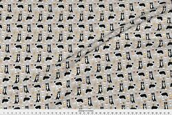 Dog Fabric Border Collie Fabric Border Collies Fabric Printed by Spoonflower BTY