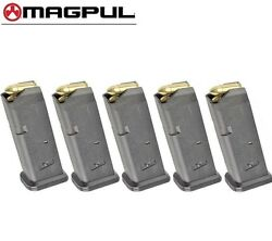 FIVE MAGPUL Fits GLOCK 17 9mm 10 Round MAGAZINES 801 BLK *FAST SHIP* $95.00