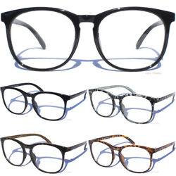 Clear Lens Eye Glasses Aviator Rounded Frame Hipster Nerd Fashion Style Eyewear $5.50