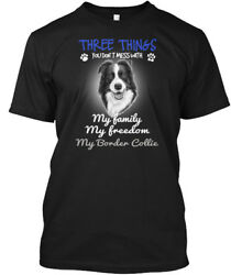 Three Things With My Border Collie Hanes Tagless Tee T-Shirt