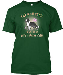 Life Is Better With A Border Collie Hanes Tagless Tee T-Shirt