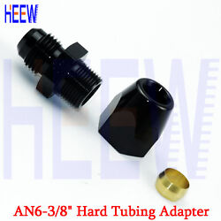 An6 6 -an Female To 3/8 Connect Fuel Hose Tube Straight Hard Fittings Adapter N