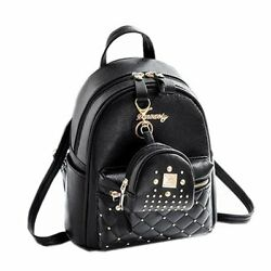 Cute Small Backpack Mini Purse Casual Daypacks Leather for Teen Girls and Wom...