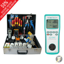 Kewtech Ezypat Battery Operated Pat Tester With Protech Kit Ppk202 Kit5c