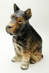 Vintage ARDCO Ceramic Figural Scotty Dog Planter Made Japan 8.5