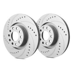 For Chevy Express 3500 01-02 Drilled And Slotted 1-piece Front Brake Rotors