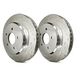 For Ford Edge 15-18 Sp Performance Dimpled And Slotted 1-piece Front Brake Rotors