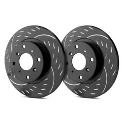 For Pontiac Gto 04 Diamond Slot Dimpled And Slotted 1-piece Front Brake Rotors
