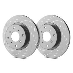 For Chevy Impala 00-05 Diamond Slot Dimpled And Slotted 1-piece Rear Brake Rotors
