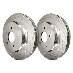 For Jeep Grand Cherokee 06-10 Brake Rotors Diamond Slot Dimpled And Slotted