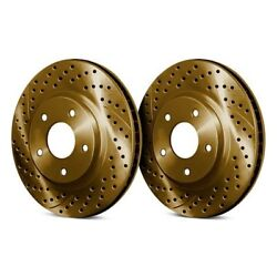 Chrome Brakes Drilled And Slotted 1-piece Brake Rotors