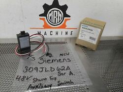 Siemens S09jld62a Ser A Mccb Shunt Trip W/ Auxiliary Switch 48vdc New In Box