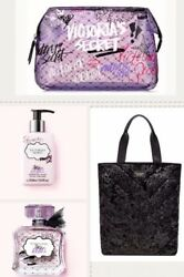 Victorias Secret Tease Rebel Fragrance Perfume Lotion Cosmetic Bag And Tote
