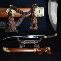 High Quality Qing Dao Sword Broadsword Hand Forged Pattern steel sharp #1953