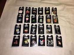 Disney Parks Trading Pin Lot Of 25 Pins New On Cards - Authentic
