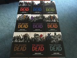 Autographed The Walking Dead Hardcover Lot 1-9
