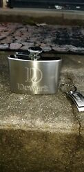Dewar's Stainless Steel Flask 2011 Blended Scotch Whisky And Original Box