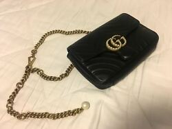 GUCCI GG MARMONT MATELASSE HANDBAG WITH PEARL DETAIL *NEW*