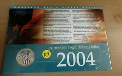 2004 Painted American Eagle Silver Dollar in Collectors Card