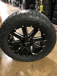 20 Ion 141 Black Wheel 33 Fuel At Tire Package Dodge Ram 2500 3500 8x6.5