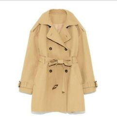 Autumn Long Jacket Suit Collar Vintage Coats Double breasted Women Trench Coats