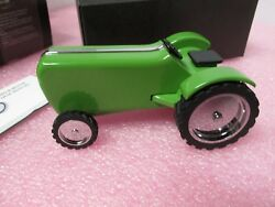 Troika Landscaper GAM51GR Tractor Green Paperweight w Magnet Friction Motor