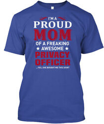 Soft Privacy Officer - I'm A Proud Mom Of Freaking Hanes Tagless Tee T-Shirt