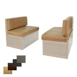 Rv 40 Toffee Memory Foam Dinette Seat Cushions Mobile Home Dining 2 Pack
