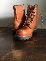 Vintage Irish Setter Red Wing 60and039s Leather Menand039s Hunting Boot 7 A
