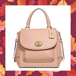 COACH Faye Backpack Purse Convertible Satchel Crossbody Bag F30525 NUDE PINK