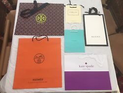 Designer Paper Shopping Bags (6) Very High End Stores NEW