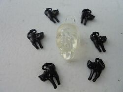 Vintage Style Halloween Charms-Plastic-Gum Ball--Skull-Clear Black Cats-7 Charms