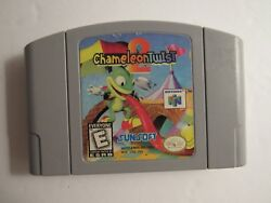 Chameleon Twist 2 (Authentic) (Nintendo 64 N64)  Tested & Works