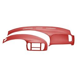 For Ford F-150 01-02 Coverlay Red Dash Cover & Instrument Panel Cover Combo Kit