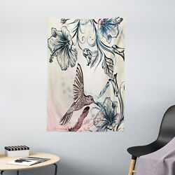 Nature Tapestry Vintage Birds Flowers Print Wall Hanging Decor