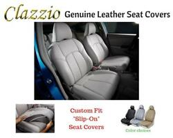 Clazzio Genuine Leather Seat Covers For 11-14 Chevy Tahoe Lt Gray W/3rd Row Cvr