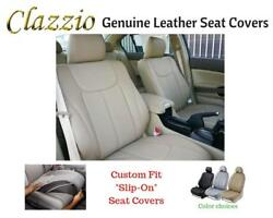 Clazzio Genuine Leather Seat Covers For 11-14 Chevy Tahoe Beige W/o 3rd Row Cvr