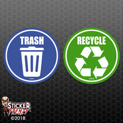 Trash Recycle Sticker Home Office Container Symbol Vinyl Decal Choose Size