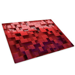 Red Purple Squares Glass Chopping Board Kitchen Worktop Saver Protector
