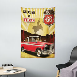 Western Tapestry Texas Car Cowboy Quote Print Wall Hanging Decor