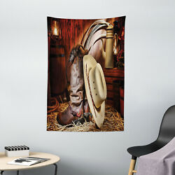Western Tapestry America Retro Rodeo Print Wall Hanging Decor