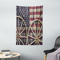 Western Tapestry Antique American Flag Print Wall Hanging Decor