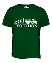 Tractor Evolution Of Man Mens T-shirt Tee Top Gift Farmer Farm