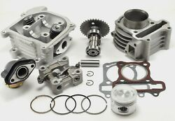 80cc Big Bore Kit Cylinder 64mm Head Piston Rings Chinese Scooter 50cc 60cc Gy6