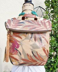 Patricia Nash Luzille Palm Leaves BackpackCrossbody Purse NWT