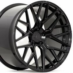 20 Staggered Rohana Rfx10 20x9 20x10.5 Black Concave Wheels Rims Forged